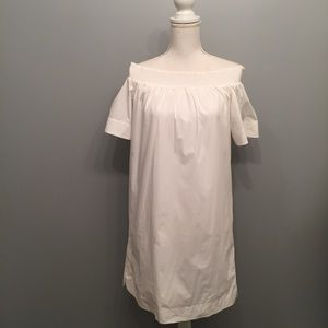 J Crew Off The Shoulder Cotton Poplin Dress Size 2
